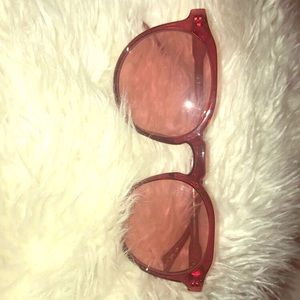 Crystal Red Plastic Round Readers